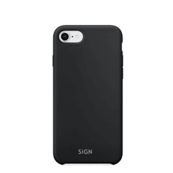 SiGN Liquid Silicone Case för iPhone 6/6s/7/8/SE 2 - Svart