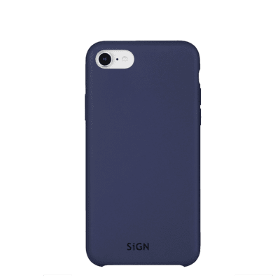 SiGN Liquid Silicone Case för iPhone 6/6s/7/8/SE 2 - Blå