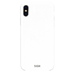SiGN Liquid Silicone Case för iPhone X & XS - Vit