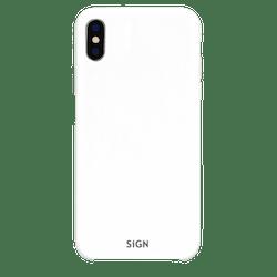 SiGN Liquid Silicone Case för iPhone X & XS - Vit