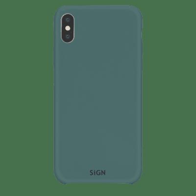 SiGN Liquid Silicone Case för iPhone X & XS - Mint / Grön