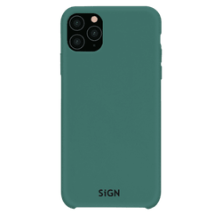 SiGN Liquid Silicone Case för iPhone 11 Pro Max - Mint / Grön