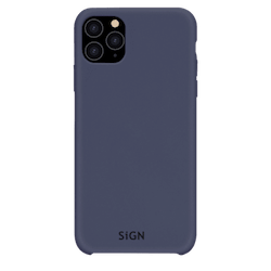 SiGN Liquid Silicone Case för iPhone 11 Pro Max - Blå