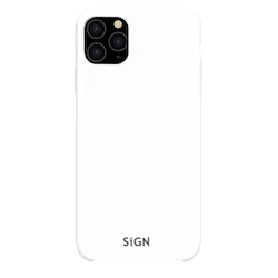 SiGN Liquid Silicone Case för iPhone 11 Pro Max - Vit
