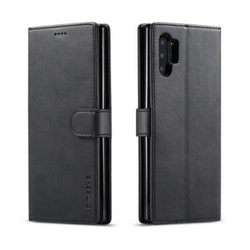 LC.IMEEKE Plånboksfodral för Samsung Galaxy Note 10 Plus - Svart