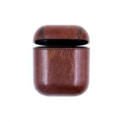Leather Protective Skal För AirPods - Brun