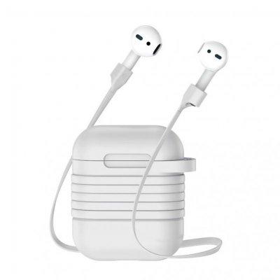 Silikonfodral med Rem till Apple AirPods - Grå