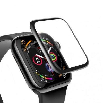 Heltäckande Skärmskydd 40mm för Apple Watch 4 - Svart