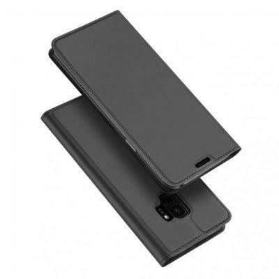 SiGN Skin Pro Plånboksfodral till Samsung Galaxy S9 - Mörkgrå
