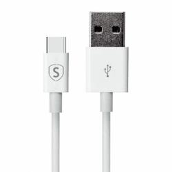 USB-C kabel för Snabbladdning 2 m - Vit