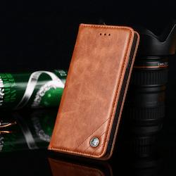 Aioria Plånboksfodral Till Samsung S20 - Brun