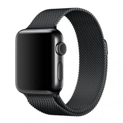 Milanese Metallarmband för Apple Watch 5-4 44 mm & 3-2-1 42mm - Svart