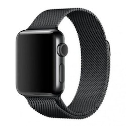Milanese Metallarmband för Apple Watch 5-4 44 mm & 3-2-1 42mm - Svart