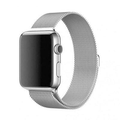 Milanese Metallarmband för Apple Watch 5-4 44 mm & 3-2-1 42mm - Silver