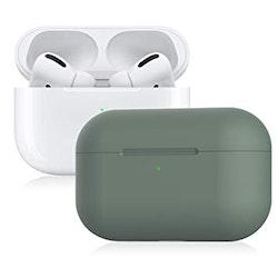 Ultra-slim Silikonfodral till Laddningsetui för Apple AirPods Pro - Grön