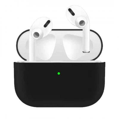Ultra-slim Silikonfodral till Laddningsetui för Apple AirPods Pro - Svart