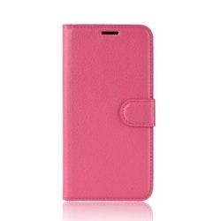 Litchi Plånboksfodral till iPhone 11 Pro Max - Rosa