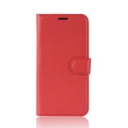 Litchi Plånboksfodral till iPhone X/XS - Röd