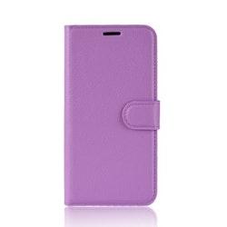 Litchi Plånboksfodral till iPhone X/XS - Lila