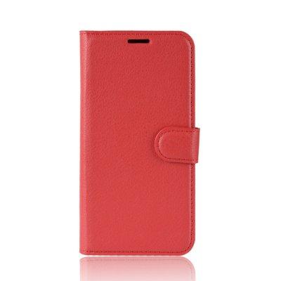 Litchi Plånboksfodral till iPhone X/XS - Rosa