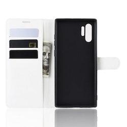 Litchi Plånboksfodral till Samsung Galaxy Note 10 Plus - Vit