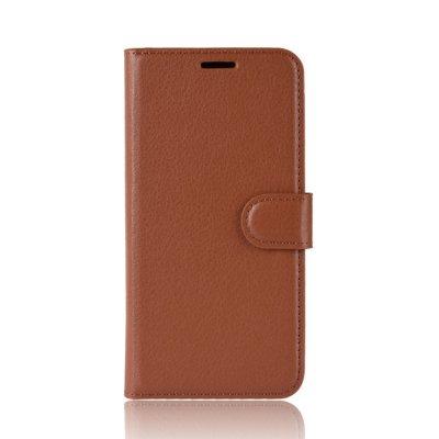 Litchi Plånboksfodral till Samsung Galaxy A80 - Brun