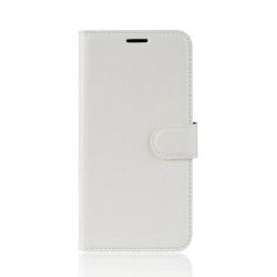Litchi Plånboksfodral till Samsung Galaxy A80 - Vit