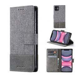 Muxma Plånboksfodral Till iPhone 11 - Grå