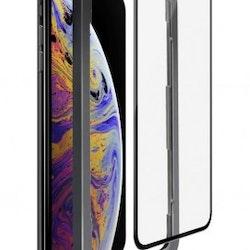 SiGN Heltäckande Skärmskydd i Härdat Glas för iPhone 11 Pro-X-XS + Monteringsram