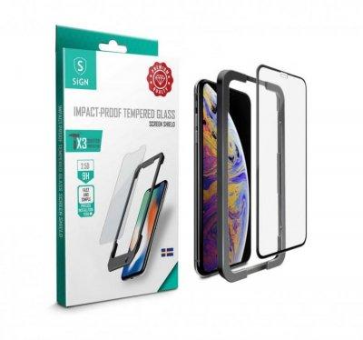 SiGN Skärmskydd i Härdat Glas för iPhone 11 Pro Max & XS Max Heltäckande
