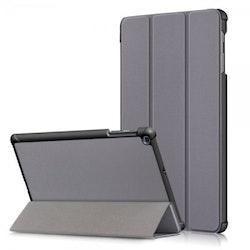 Samsung Galaxy Tab A 10.1 2019 T510 T515 Vikbart Smart Fodral Stativ - Grå