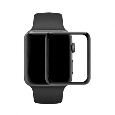 AICOO Heltäckande Skärmskydd 38mm för Apple Watch Series 3/2/1 - Svart