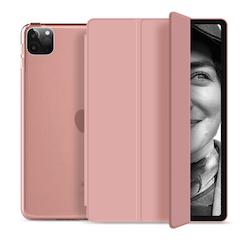 """Tri-fold Fodral med Stativfunktion för iPad Pro 12,9"""" 2020 - Rose Gold"""