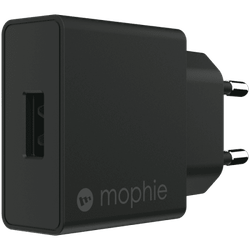 MOPHIE WALL ADAPTER USB-A 18W - SVART