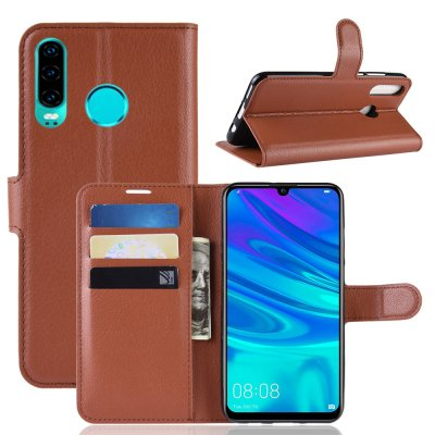 Crazy Horse Plånboksfodral till Huawei P30 Lite - Brun
