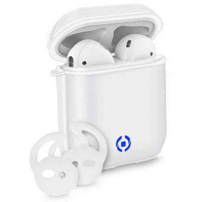 Celly Glacier Aircase & Sportbyglar för Apple AirPods 1/2 - Vit