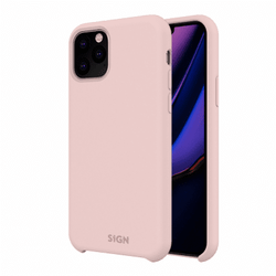 SiGN Liquid Silicone Case för iPhone 11 Pro Max - Rosa