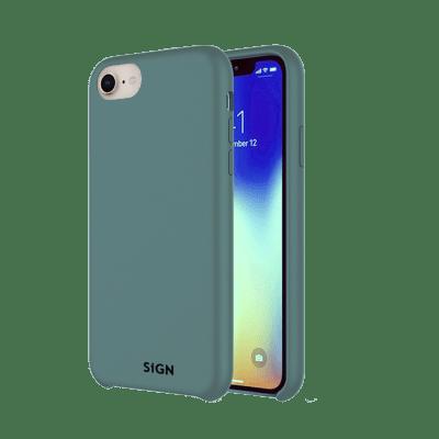 SiGN Liquid Silicone Case för iPhone 7 & 8/SE 2 - Mint