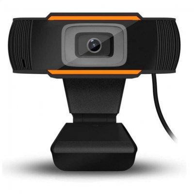 Webbkamera med Mikrofon 720P USB - Svart