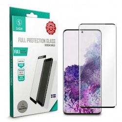 SiGN Heltäckande Skärmskydd i Härdat Glas för Samsung Galaxy S20 Ultra