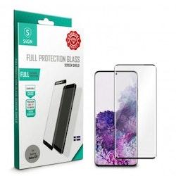 SiGN Heltäckande Skärmskydd i Härdat Glas för Samsung Galaxy S20