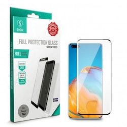 SiGN Heltäckande Skärmskydd i Härdat Glas för Huawei P40