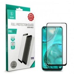 SiGN Heltäckande Skärmskydd i Härdat Glas för Huawei P40 Lite