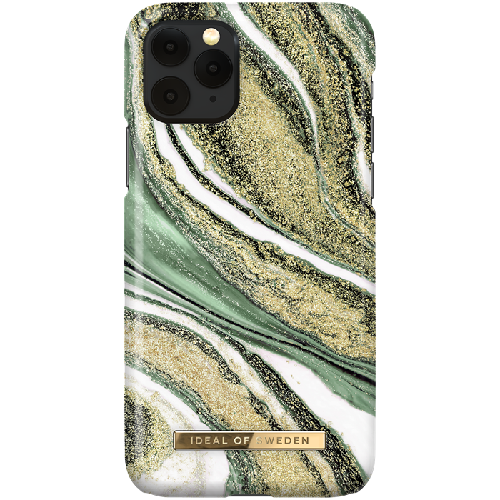 iDeal Fashion Skal för iPhone X/XS/11 Pro - Cosmic Green Swirl