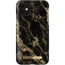 iDeal Fashion Skal för iPhone XR/11 - Golden Smoke Marble