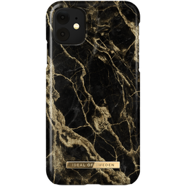 iDeal Fashion Skal för iPhone XR/11 - Golden Smoke Marble