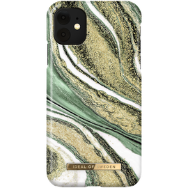 iDeal Fashion Skal för iPhone XR/11 - Cosmic Green Swirl