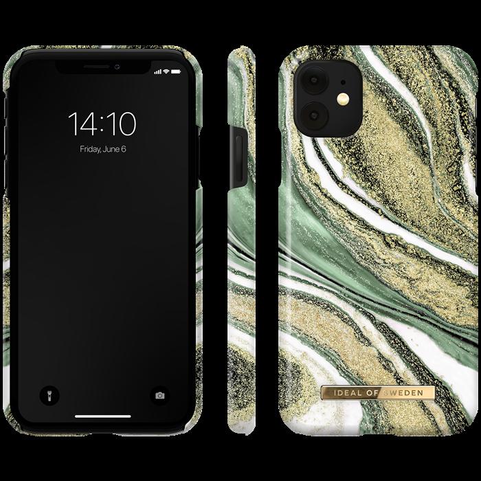 iDeal Fashion Skal för iPhone XR/11 - Cosmic Green Swirl