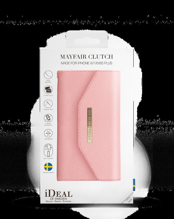 IDEAL MAYFAIR CLUTCH TILL IPHONE 6/6S/7/8/SE 20 - ROSA