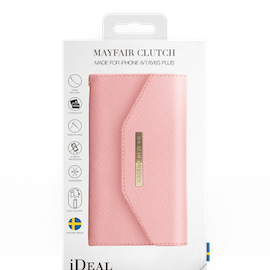 IDEAL MAYFAIR CLUTCH TILL IPHONE 6/6S/7/8/SE 20 - ROSA